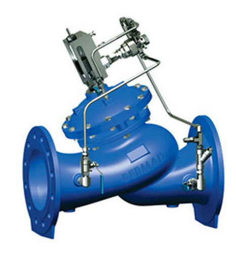 diaphragm valve / hydraulically-operated / pressure-reducing / for water