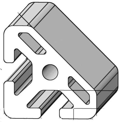 aluminum profile / triangular / 45° / industrial