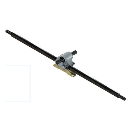 straight-toothed rack and pinion / linear / steel