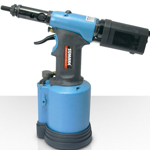 hydraulic riveter / air / for blind inserts / floor-standing