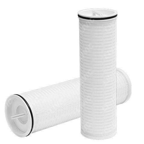 water filter cartridge / fine / polypropylene / pleated