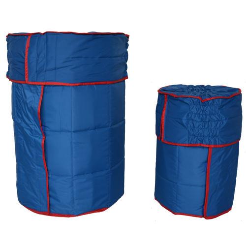 drum insulating blanket / aluminized / polyester fiber