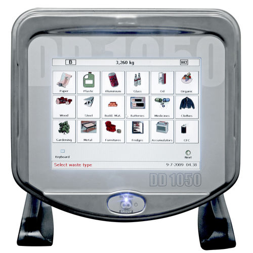LED display weighing terminal / with touchscreen / benchtop / stainless steel