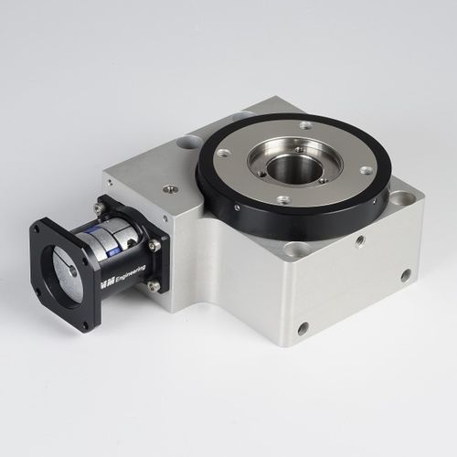rotary table with stepper motor / horizontal / worm gear