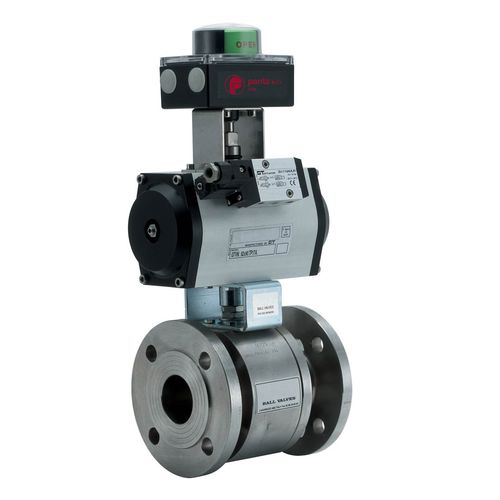 floating ball valve / electrically-actuated / for water / 2-piece