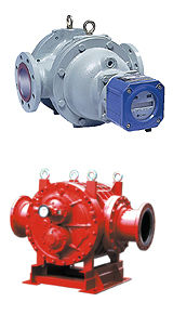 positive displacement flow meter / for oil / in-line