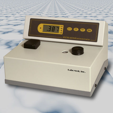 visible spectrophotometer / benchtop / compact / transmission