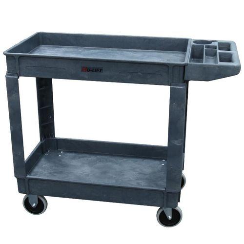 storage cart / plastic / 2 levels / multipurpose