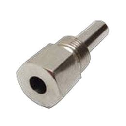 brass thermowell / stainless steel / for temperature sensors