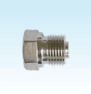 hexagonal plug / threaded / stainless steel / fitting