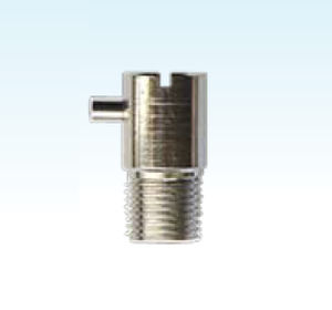 hydraulic adapter / bayonet / nickel-plated brass / stainless steel