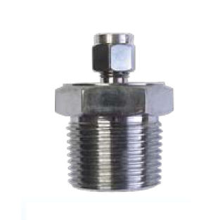 compression fitting / screw-in / straight / hydraulic