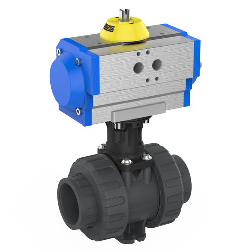 ball valve / pneumatically-operated / for potable water / PVC