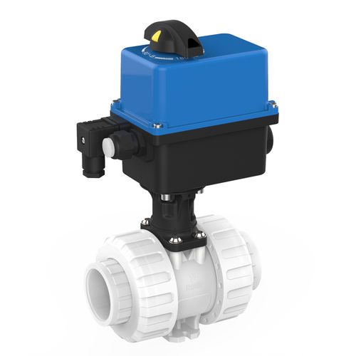 ball valve / electrically-actuated / for potable water / PVDF