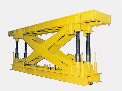 scissor lift table / hydraulic / stationary / for heavy loads