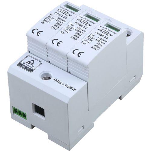 type 2 surge arrester / varistor / plug-in / DC