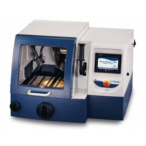 knife cutting machine / laboratory / wet abrasive / automatic