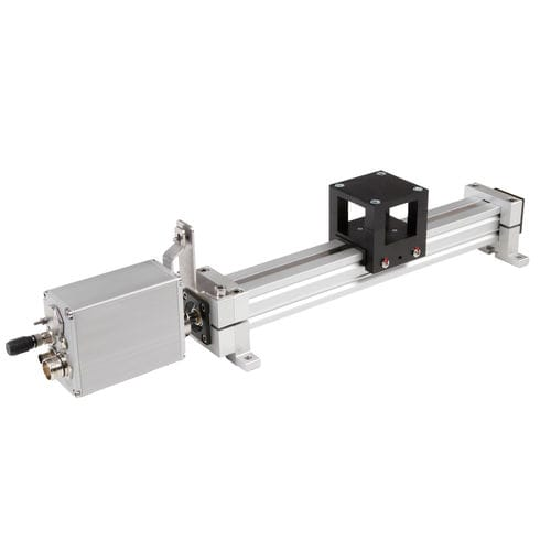 electric linear axis / profile / with positioning system / automated format adjustment