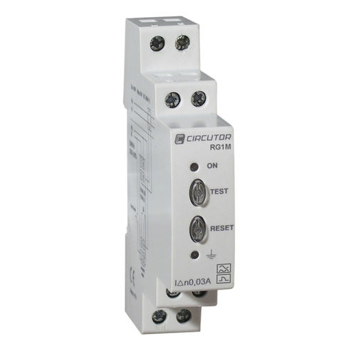 earth-leakage protection relay / differential / adjustable / electronic