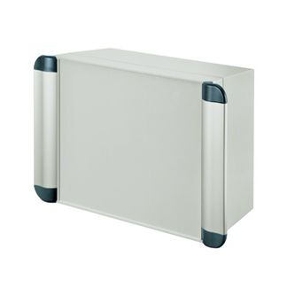 panel-mount enclosure / rectangular / screw cover / with hinged cover