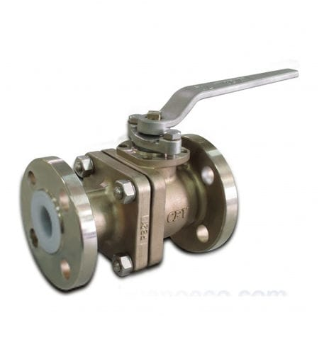 ball valve / lever / control / for liquid food products and beverages