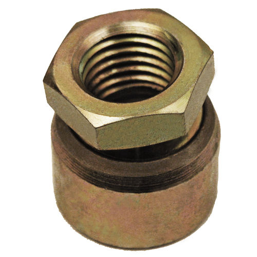 machine foot / zinc-coated steel / swivel