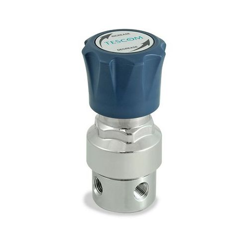 gas pressure regulator and reducer / single-stage / membrane / nickel-plated brass