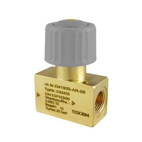 manual valve / for gas / brass / high-purity
