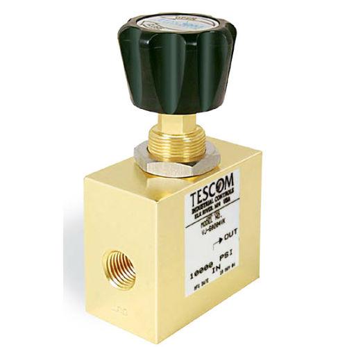 globe valve / manual / pressure-control / for gas