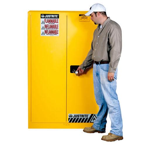 workshop cabinet / free-standing / hinged door / steel