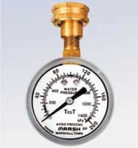 dial pressure gauge / Bourdon tube / for water / test