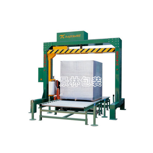 rotary arm stretch wrapper / automatic / with conveyor