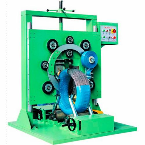 vertical wrapping machine / automatic / coil / stretch film
