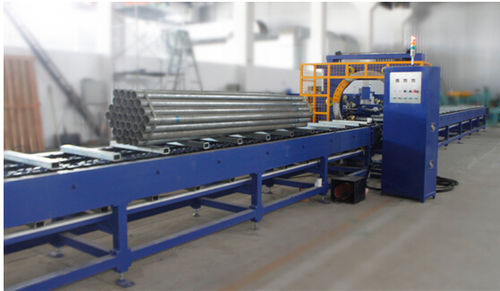 orbital wrapping machine / automatic / for bars / with motorized roller conveyor