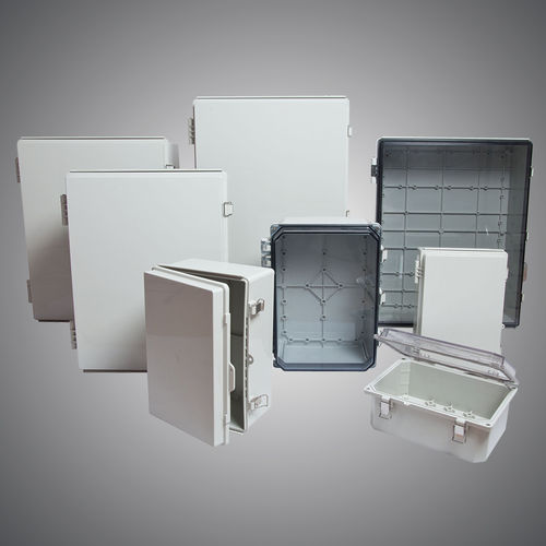 enclosure with hinged cover / wall-mount / rectangular / ABS