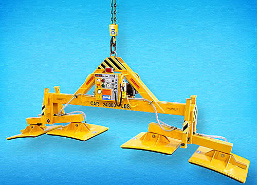 arch stone vacuum lifting device / for heavy loads / electric / pivoting