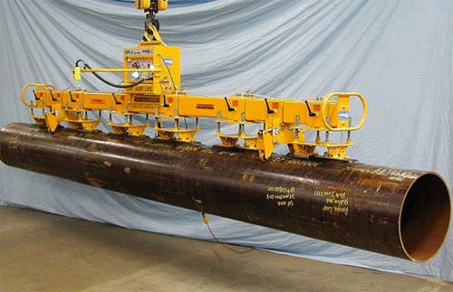 pipe vacuum lifting device / for heavy loads / electric / horizontal