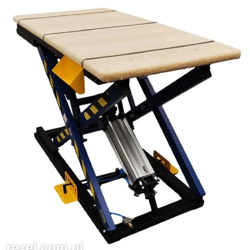 scissor lift table / pneumatic / stationary