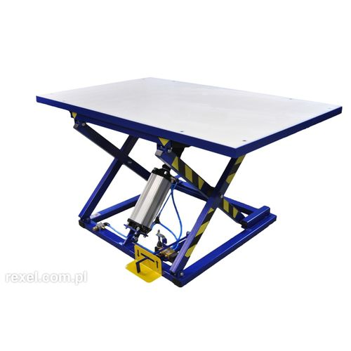 scissor lift table / foot-operated / pneumatic / stationary