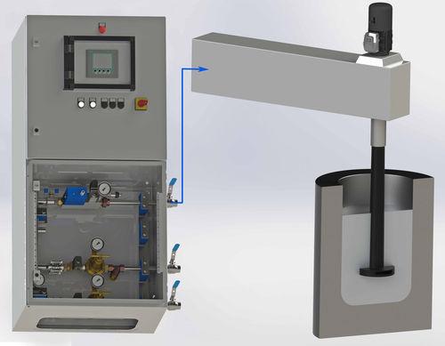 impeller system gas control unit / for aluminum production
