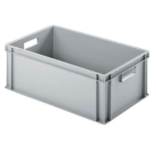 plastic crate / storage / stacking / with handles