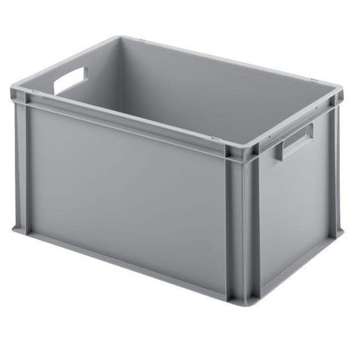 plastic crate / stacking / with handles