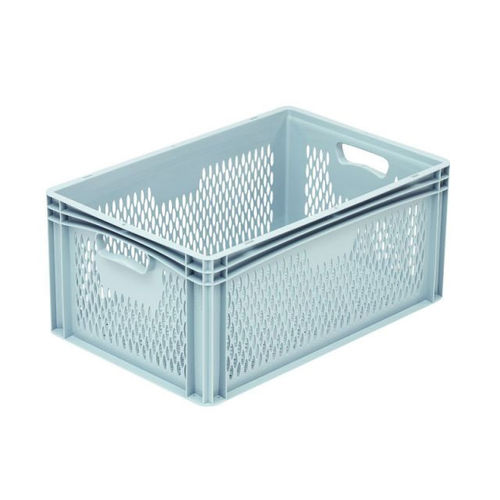 plastic crate / storage / stackable / perforated