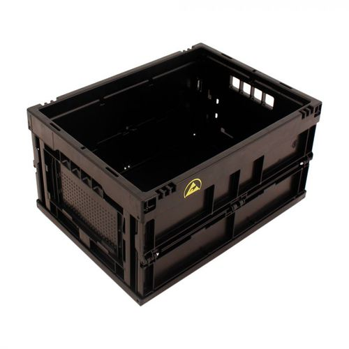 PP crate / storage / folding / conductive