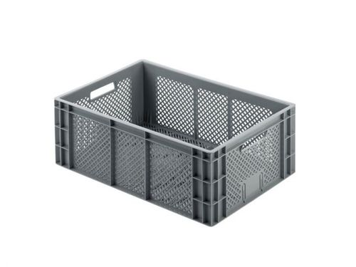 plastic crate / storage / stackable / with handles
