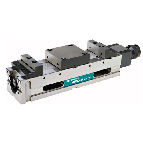 machine tool vise / for grinding machines / hydraulic / vertical