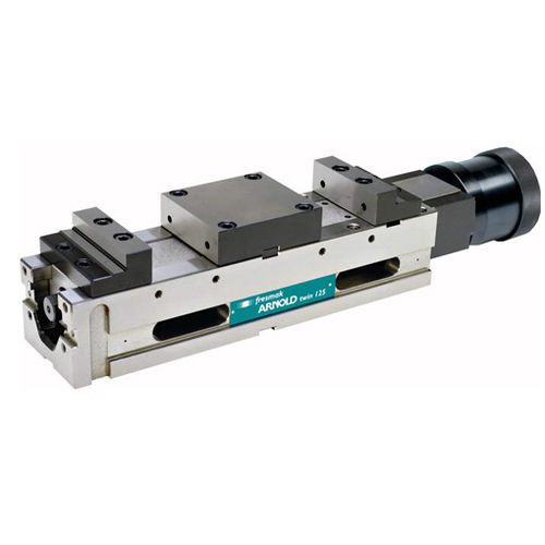 machine tool vise / for grinding machines / pneumatic / vertical