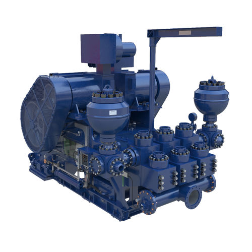 drillship pump / slurry / reciprocating / for offshore applications