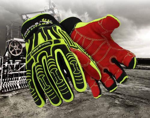 work glove / vibration damping / oil-resistant / nylon