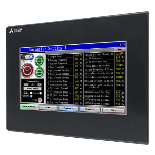 HMI terminal with touch screen / panel-mount / 800 x 480 / IP65